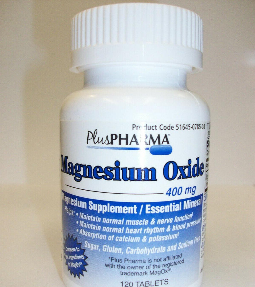 Magnesium Oxide  400 mg  120 Tablets  Magnesium Supplement  Essential Mineral