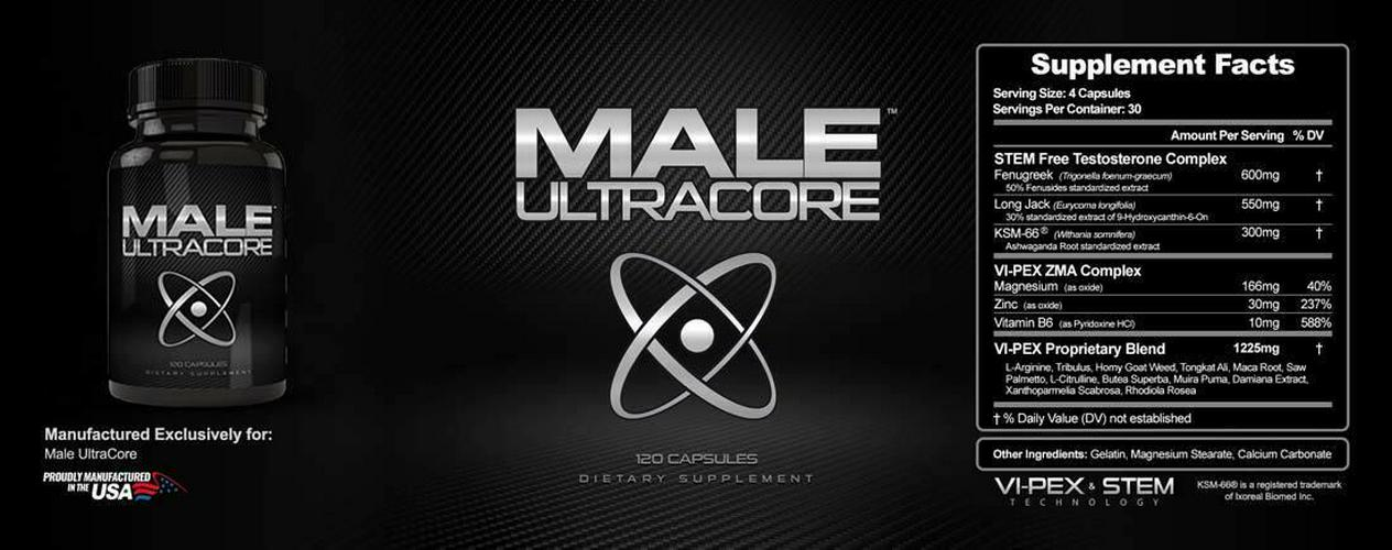Male Ultracore - Testosterone Booster and Performance Enhancing Supplement