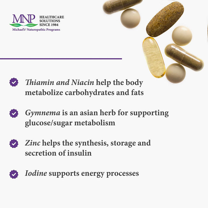 Michael's Naturopathic Programs Sugar Metabolism Factors - 90 Vegan Tablets - Nutrients Support The Production of Insulin - Vegetarian, Gluten Free Kosher - 15 Servings