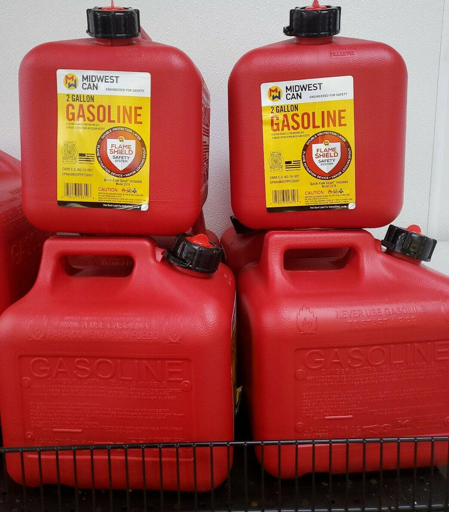 Midwest Can 2310 Fmd Gasoline Container, 2 Gallon Gas Can Plus 8 Oz. For Oil