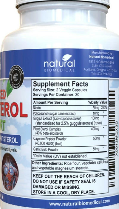 NATURAL BIOMEDICAL - ADVANCED CHOLESTEROL SUPPORT SUPPLEMENT 60 Capsules