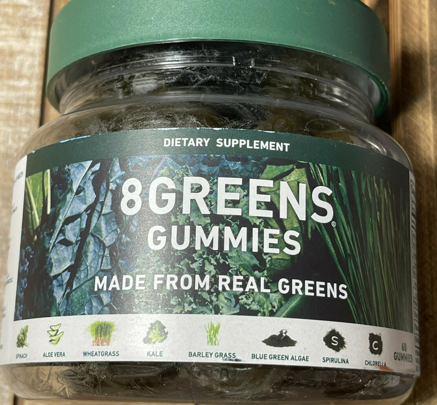 NEW SEALED 8 Greens Gummies Dietary Supplement 60 Gummies Exp 02/2022