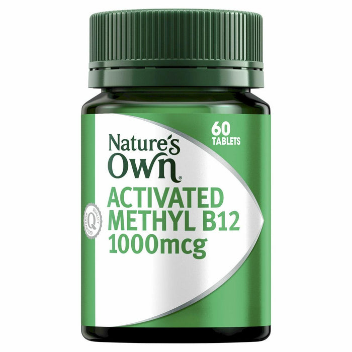 Nature's Own Activated Methyl B12 1000mcg Vitamin B 60 Mini Tablets