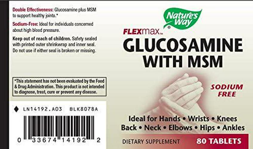 Nature's Way Glucosamine Sulfate and MSM, 80 Tablets