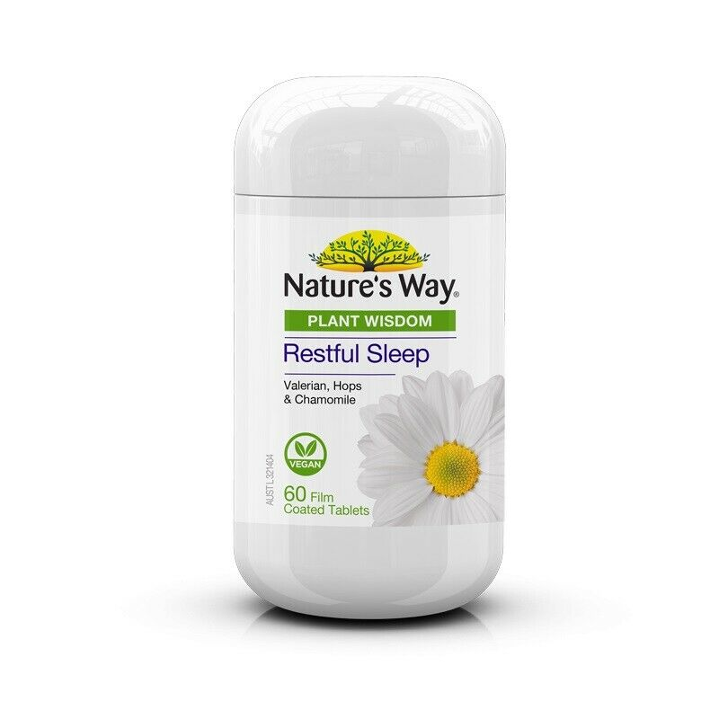 Nature's Way Plant Wisdom Sleep 60 Tablets Restful Vegan Calm Sooth Digestive