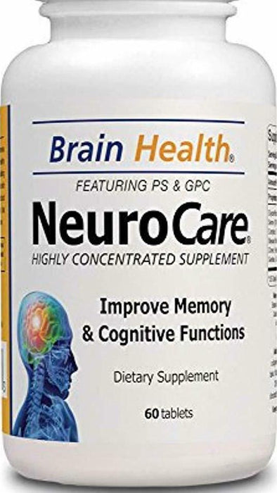 NeuroCare Natural Brain Health Supplement Support, Highly Concentrated Tablets