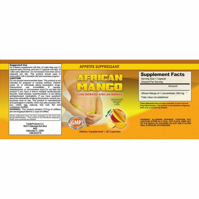New African Mango Extract Ultimate Weight Loss Fat Burn Diet Pills Free Shipping