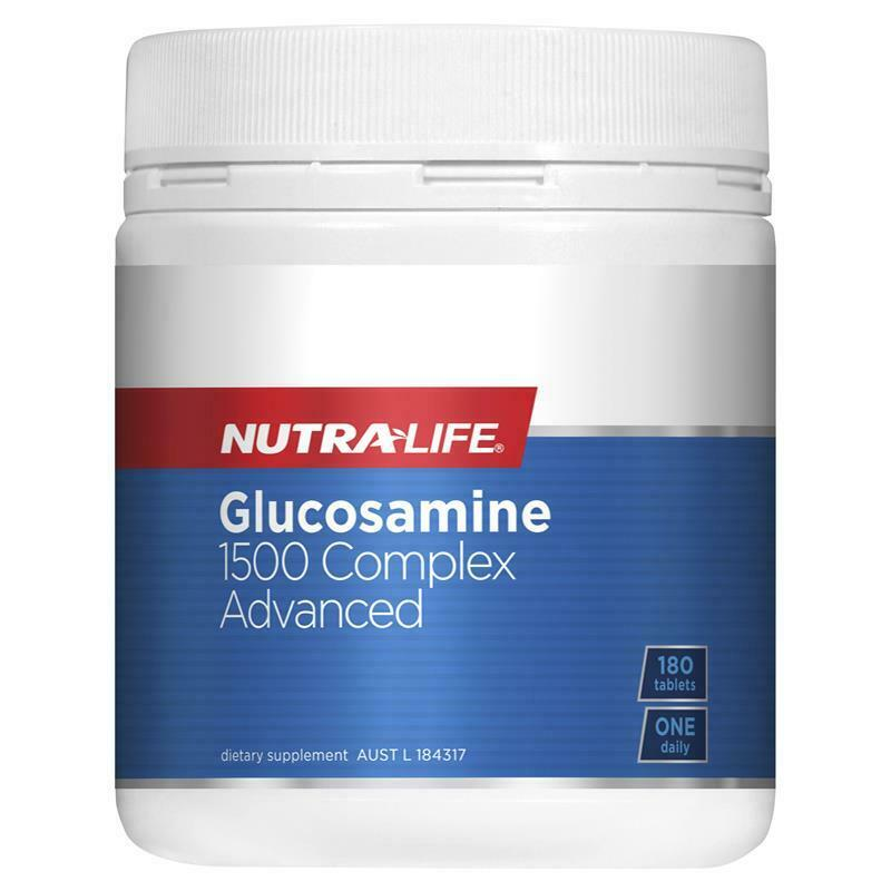 New NUTRALIFE Glucosamine 1500 Complex Advanced 180 Tablets Nutra Life