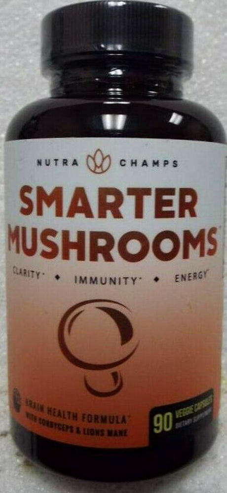 Nutra Champs Smarter Mushrooms Immunity Support Diet Supplement - 90 Capsules