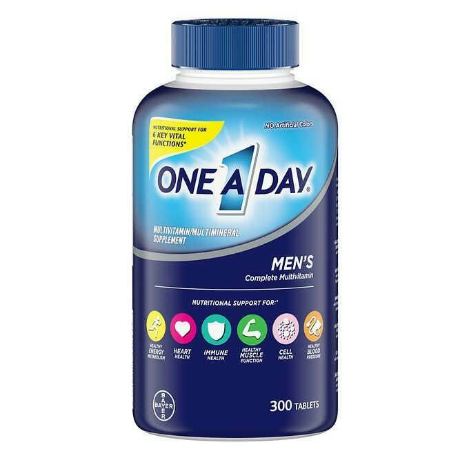 ONE A DAY MEN'S MULTIVITAMIN / MULTIMINERAL SUPPLEMENT 300 TABLETS EXP: 06/22