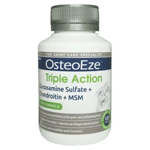 OsteoEze Triple Action 120 Tablets Glucosamine Sulfate + Chondroitin + MSM
