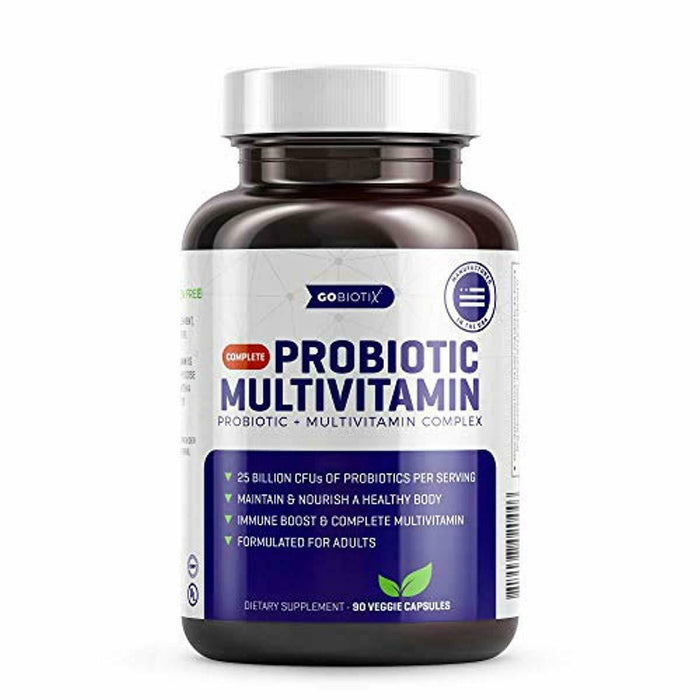 Probiotic Multivitamin - 2-in-1 Complete Daily Multivitamin Combined with 25 Bil