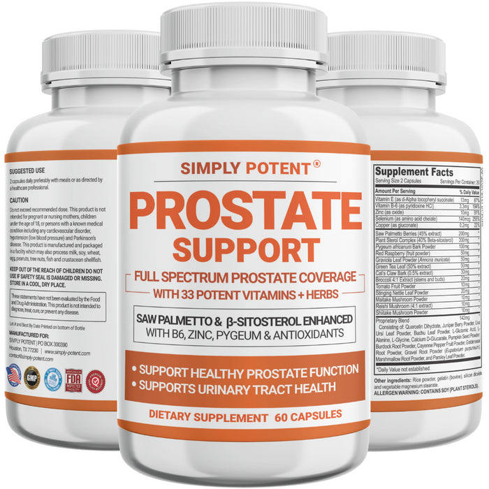 Prostate Support Supplement w/ Saw Palmetto Beta Sitosterol Zinc Prostate