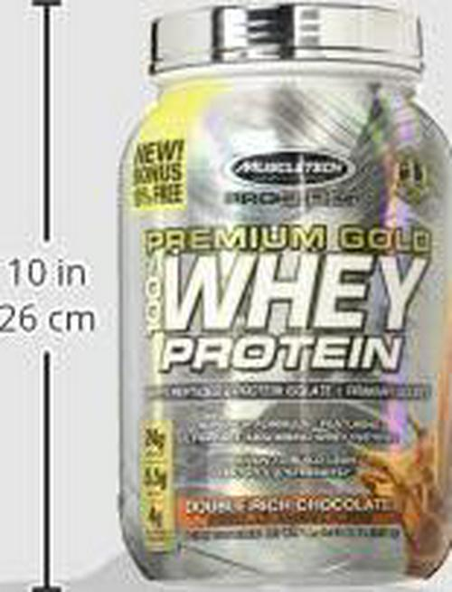 Protein Powder | MuscleTech Premium Gold 100% Whey Protein Powder | Whey Protein Isolate and Peptides | Whey Isolate Protein Powder for Women and Men | Vanilla Protein Powder, 2.2 lbs (30 Servings)