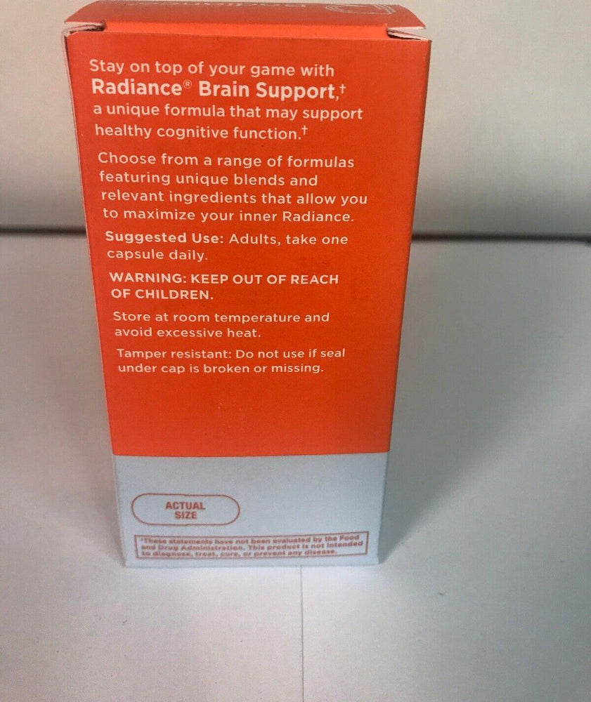 Radiance BRAIN SUPPORT -60 VEGETARIAN CAPSULES. Dietary Supplement EXP : 01 / 21