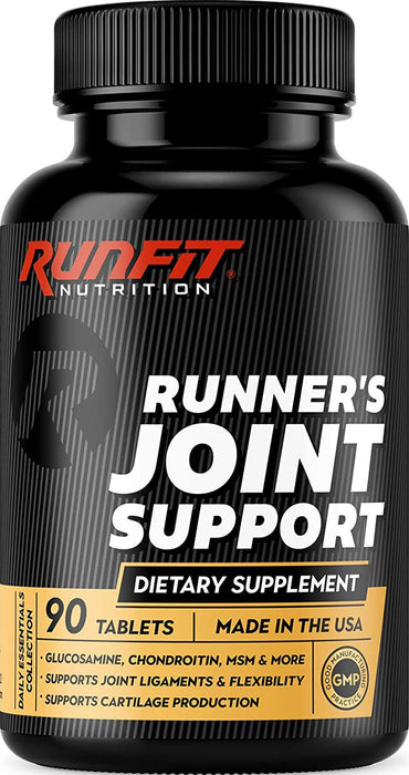 Runner's Joint Support - Stop Joint Pain Now - Glucosamine, Chondroitin, MSM and More - Joint Supplement Helps Relieve and Prevent Knee and Other Joint Pain - 90 Tablets (45 Day Supply)