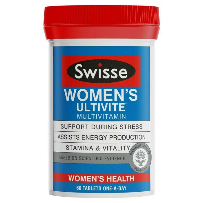 Swisse Women's Ultivite Multivitamin 60 Tablets Womens Health Stamina and Vitality