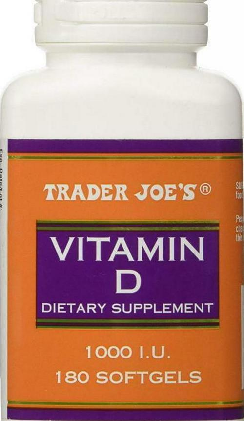 TRADER JOE'S VITAMIN D Dietary Supplement 1000 I.U 180 Softgels NEW Safety-Seal