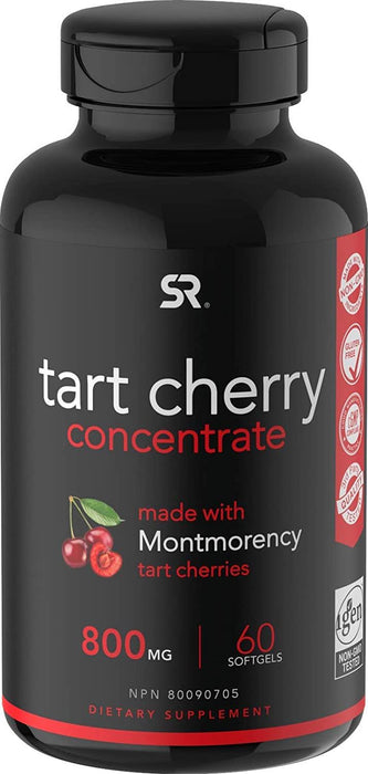 Tart Cherry Concentrate - Made from Montmorency Tart Cherries; Non-GMO and Gluten Free (60 Liquid Softgels)