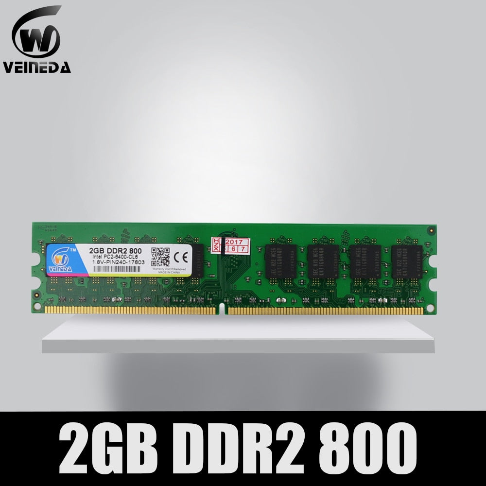 VEINEDA DeskPC Ram ddr2 4gb 533 667 800HMz PC2 6400 Memory ddr 2 PC2-6400 240pin For AMD Intel Desktop