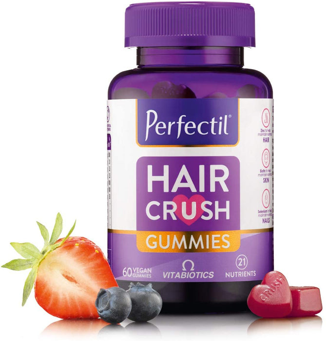 Vitabiotics Perfectil Hair Crush Gummies - 60 Vegan Gummies