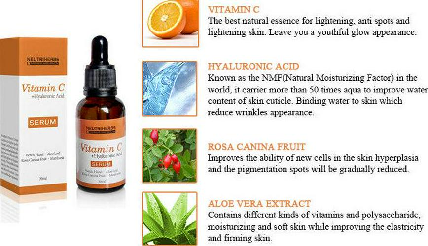 Vitamin C Face Serum Cream with Hyaluronic Acid - Anti Ageing/Aging Anti Wrinkle