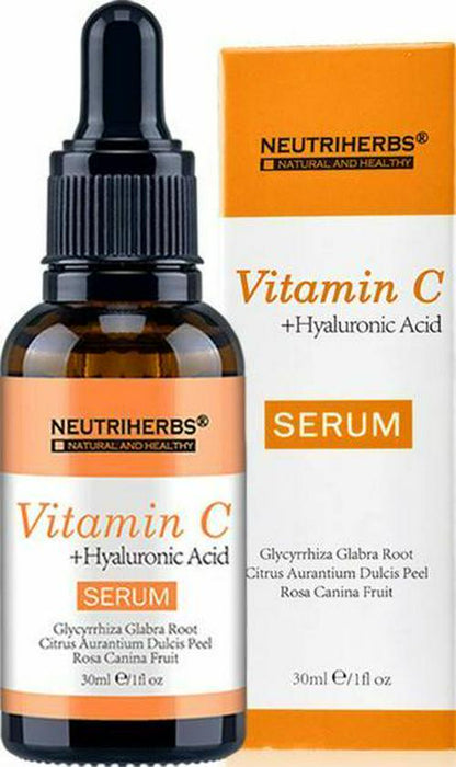 Vitamin C and Hyaluronic Acid Face Serum 2x 30ml For Micro Needle Derma Roller