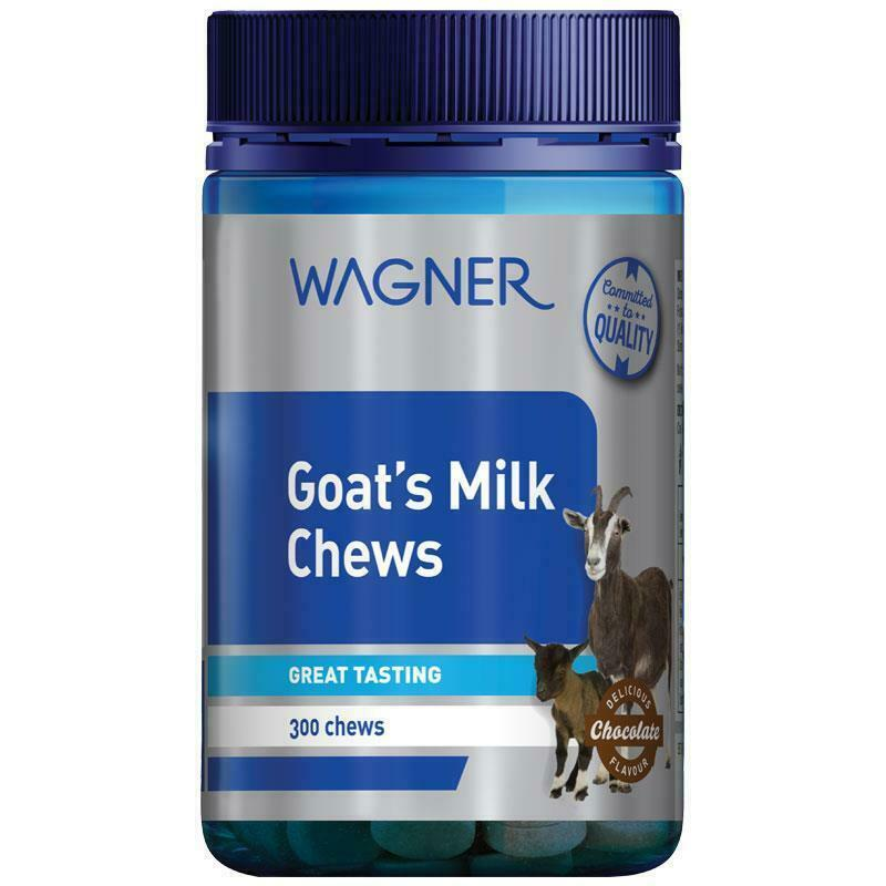 Wagner Goats Milk Chewables Chocolate 300 Tablets For Cow Milk Intolerant