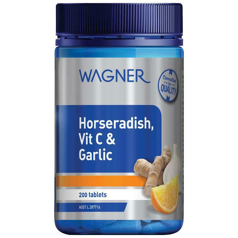 Wagner Horseradish Vitamin C and Garlic 200 Tablets Support General Wellbeing