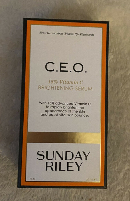 Sunday Riley CEO Vitamin C Brightening Serum 30ml / 1oz NWB