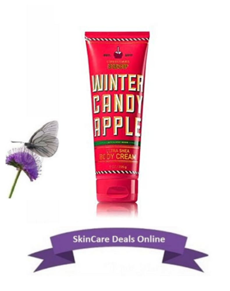 Bath and Body Works Winter Candy Apple Body Cream 8 fl oz.