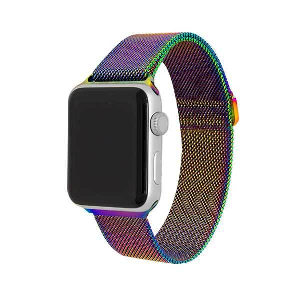 Rainbow Stainless Steel Mesh Watch Bands - Epic Watch Bands