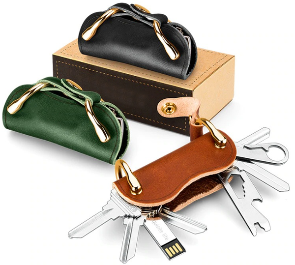 Retro Genuine Leather Smart Key Wallet