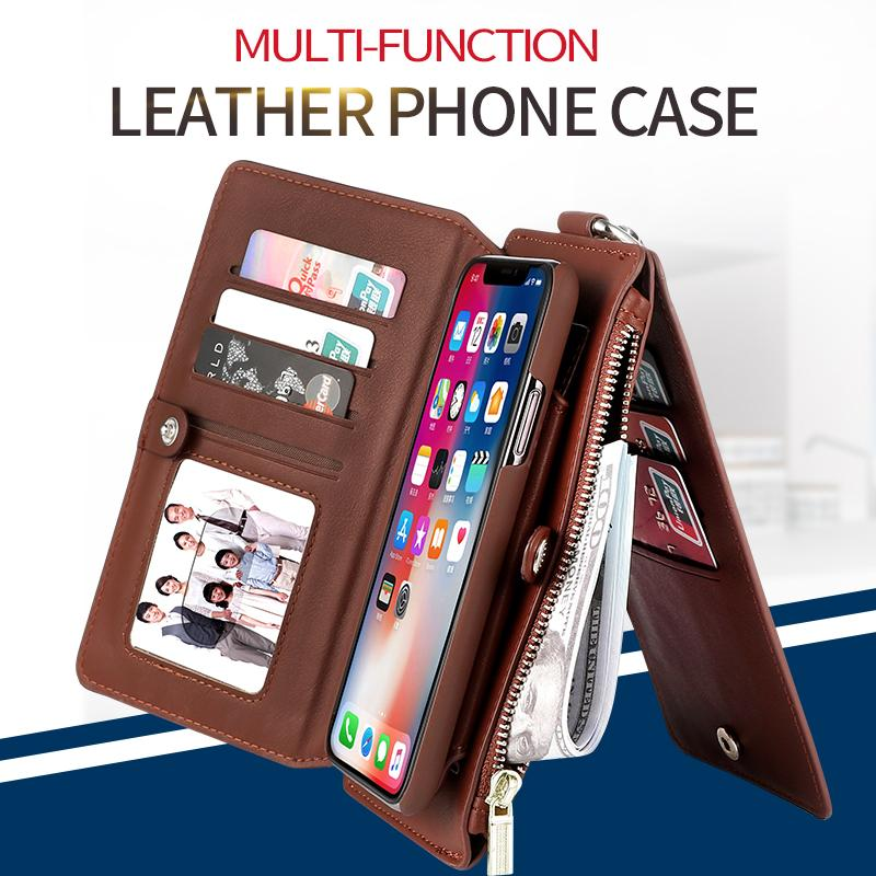 Detachable Stand Wallet Case For iPhone