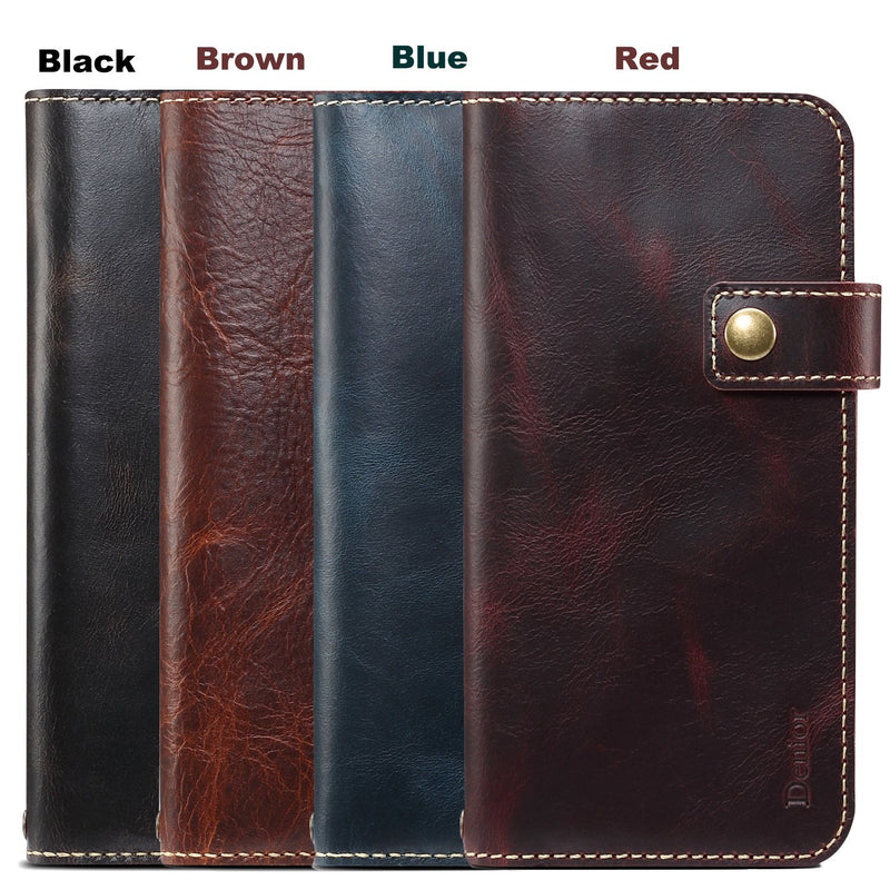 Magnetic Genuine Leather Wallet Case