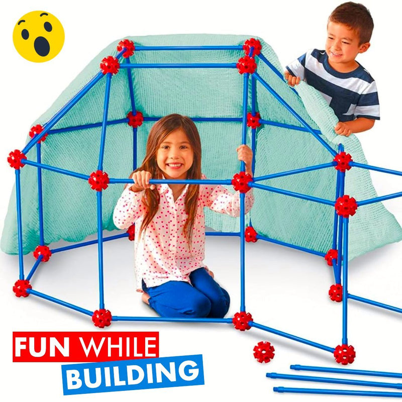 FortBuilder - Kids Construction Fortress Building Kit