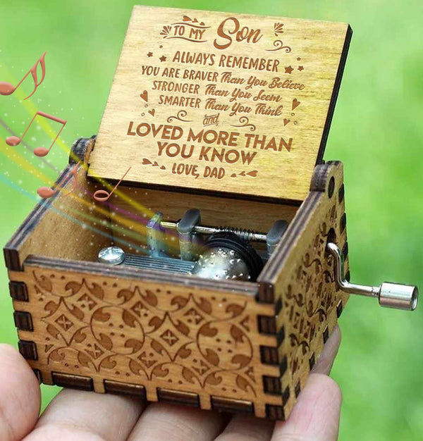 Dad To Son - You Are Loved More Than You Know - Engraved Music Box