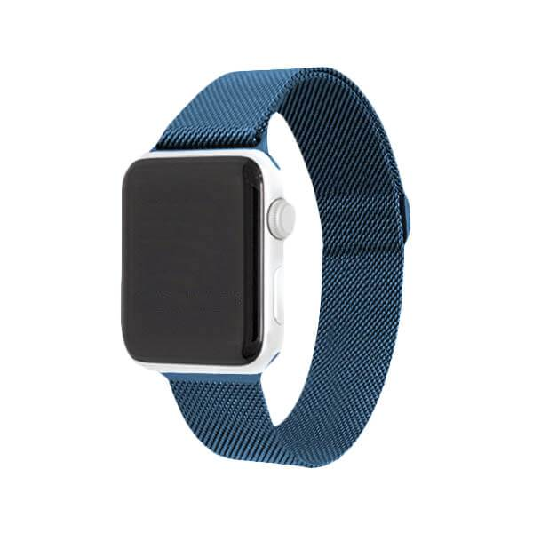 Blue Stainless Steel Mesh Watch Bands - Epic Watch Bands
