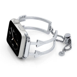 The Artemis Silver Arrow Apple Watch Band by The Ultimate Cuff