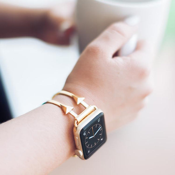 The Artemis Gold Arrow Apple Watch Band by The Ultimate Cuff