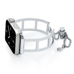 The Addison Silver Apple Watch Band by The Ultimate Cuff