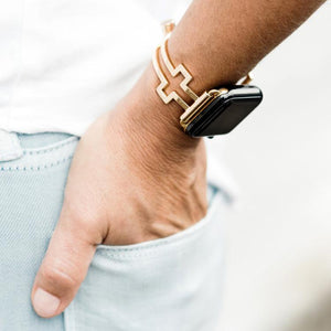 Cross Shaped Gold Apple Watch Band by The Ultimate Cuff