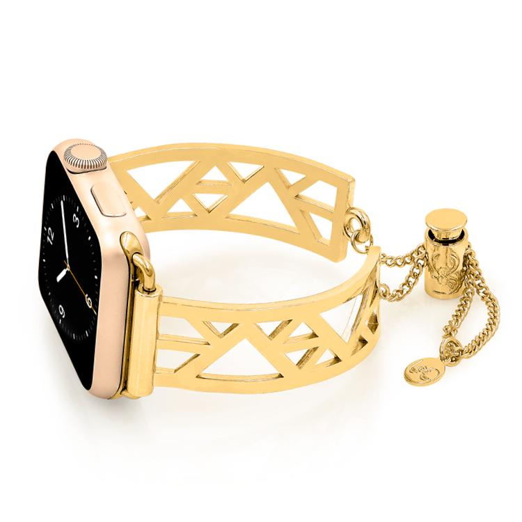 Geometric Triangle Gold Apple Watch Jewelry Band