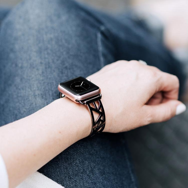 Geometric Triangle Space Gray Apple Watch Jewelry Band