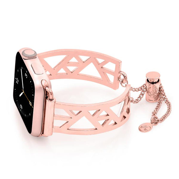 Geometric Triangle Rose Gold Apple Watch Jewelry Band