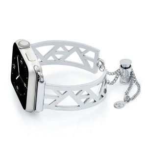 Geometric Triangle Silver Apple Watch Jewelry Band