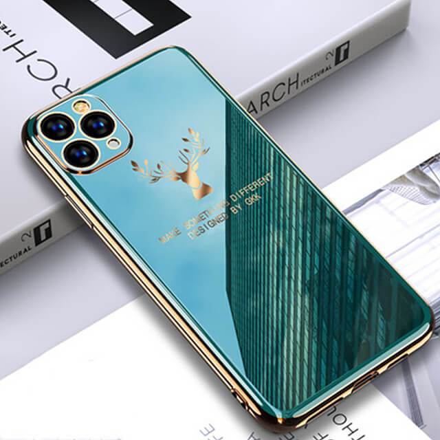 2020 Deer Pattern Camera All-inclusive Electroplating Process iPhone Case - VooChoice