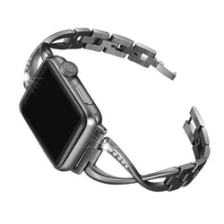 Black Stainless Steel Cuff Watch Bands - Epic Watch Bands