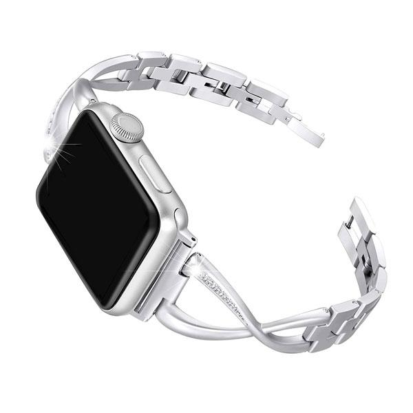 Silver Stainless Steel Cuff Watch Bands - Epic Watch Bands