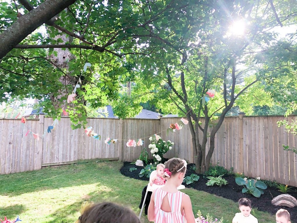 fairy garden birthday party decor